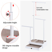 Love-KANKEI Love-KANKEI Jewelry Tree Stand With Drawer All White