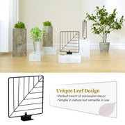 Love-KANKEI Leaf Design Corner Shelf Wall Mount of 5 Tier Carbonized Black