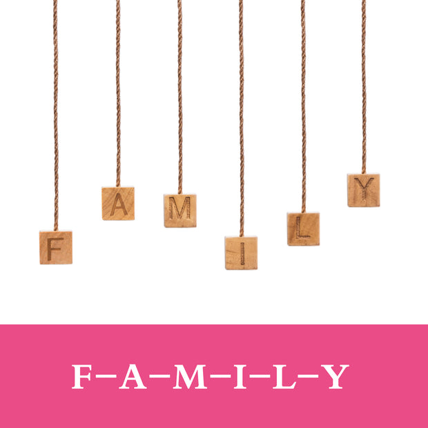 "Love-KANKEI ""Family""Letter Picture Frame 30 Pegs"