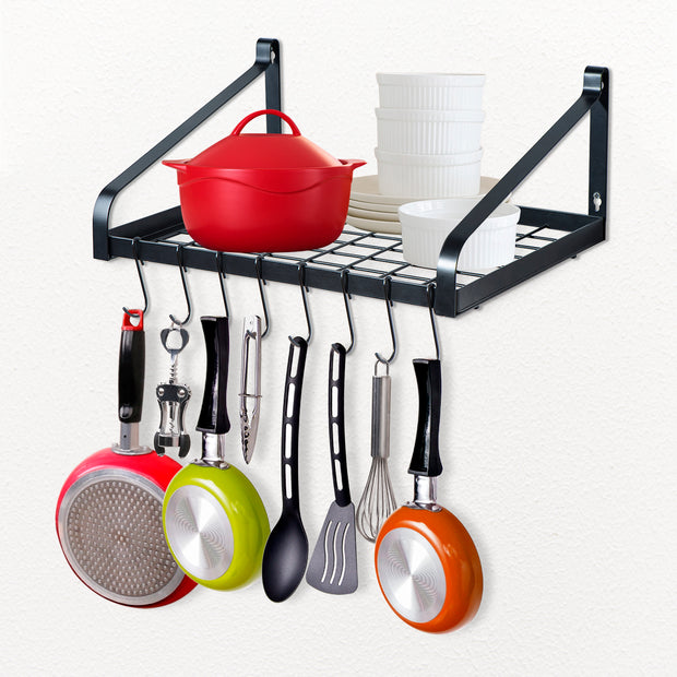Love-KANKEI Pot Rack Wall Mounted Set of 2