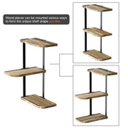 Love-KANKEI Corner Shelf Wall Mount of 3 Tier