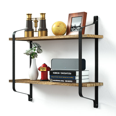 Love-KANKEI 2 Tier Wood Storage Shelf Heavy Duty