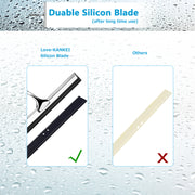 Love-KANKEI Squeegee with 1 Replacement Rubber Blade Hook