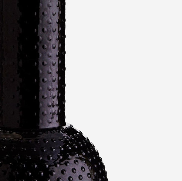 Black Glass Vase with Dots - Jackdaw Living