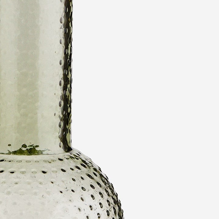 Green Glass Vase with Dots - Jackdaw Living