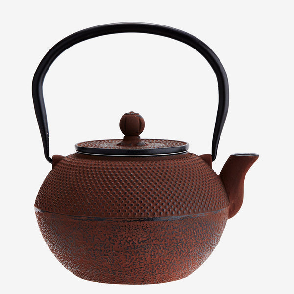 Burgundy Cast Iron Teapot - Jackdaw Living