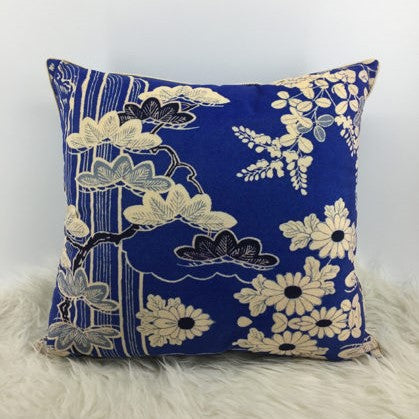 Chinoiserie Blue Floral Cushion Cover - Jackdaw Living