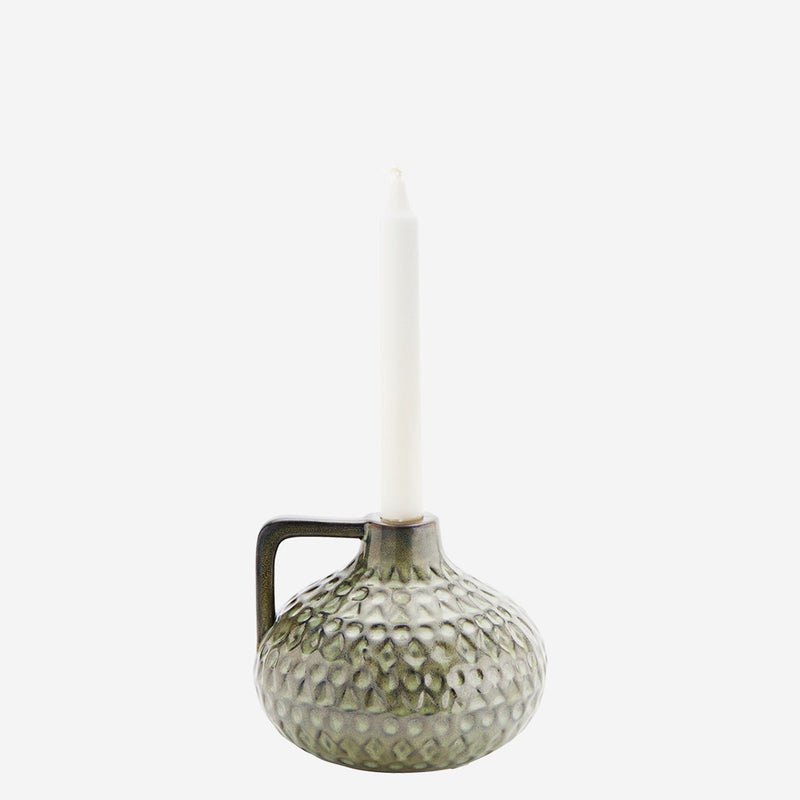 Green Candle Holder with Handle - Jackdaw Living