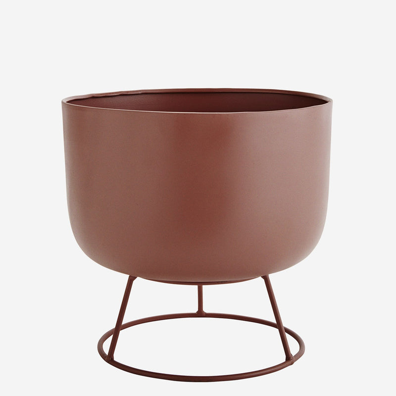 Pink House Plant Pot with Stand