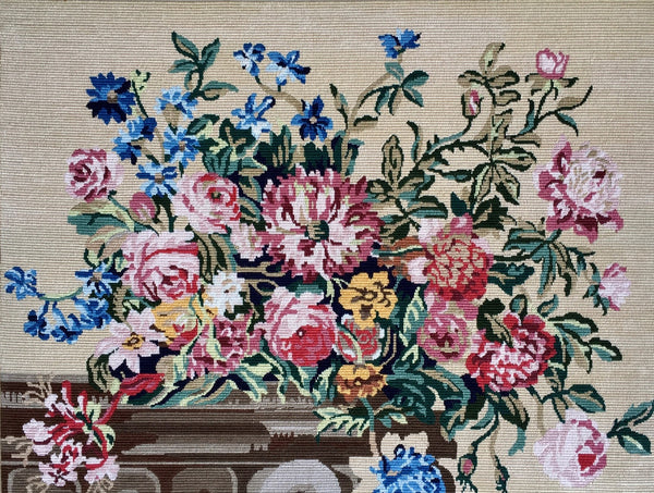 Jackdaw Living - Vintage tapestry, Bouquet on a Mantle Piece