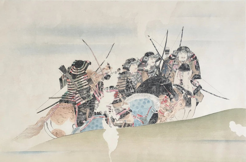 Jackdaw Living - Vintage Japanese Samurai Print Samurai Warriors and their horses