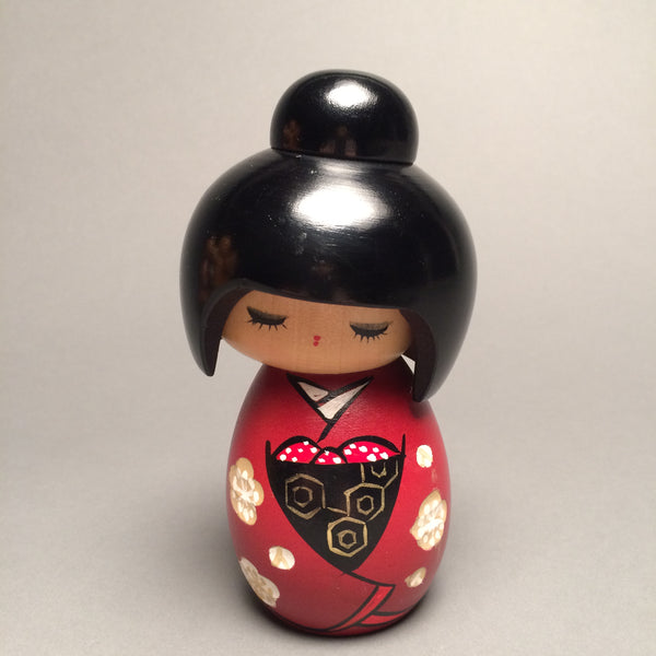 Small Contemporary Japanese Kokeshi Doll - Jackdaw Living