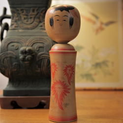 Traditional Vintage Japanese Kokeshi Doll - Jackdaw Living