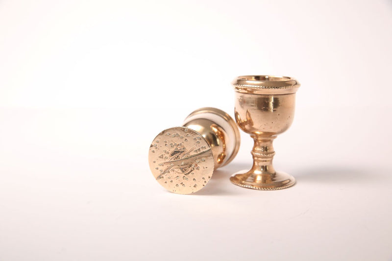 Vintage Brass Egg Cups - Jackdaw Living