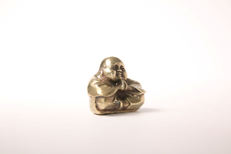 Vintage Brass Praying Happy Buddha - Jackdaw Living