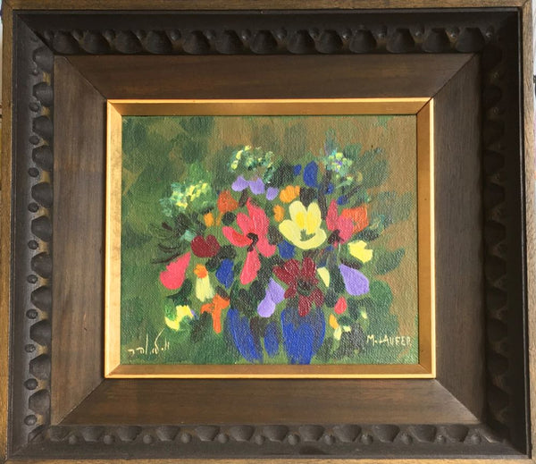Vintage Oil Painting, Bouquet of Flowers - Jackdaw Living