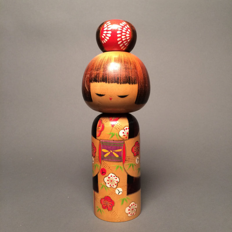High Bun Vintage Japanese Kokeshi Doll - Jackdaw Living
