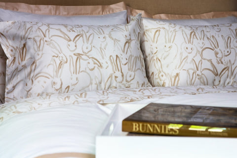 Hunt Slonem Bunny Sheets