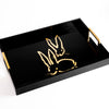 Royal Rabbit Lacquered Tray