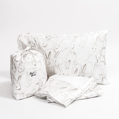 Silver Bunny Signature Sheet Set
