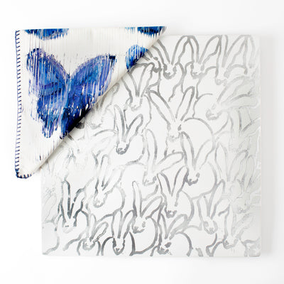 Butterflies in Blue Dinner Napkin