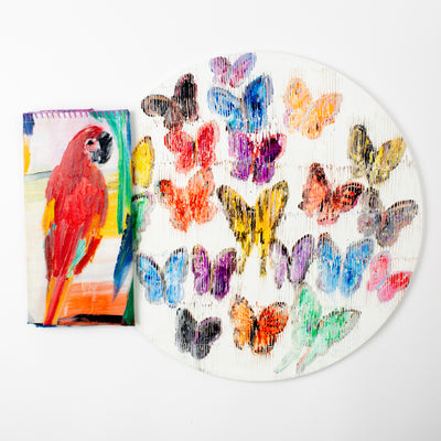 Hunt's Parrots Dinner Napkins - Set of 4