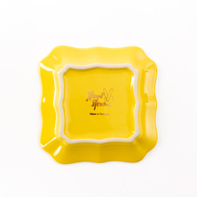 Bunny Portrait Plate - Yellow