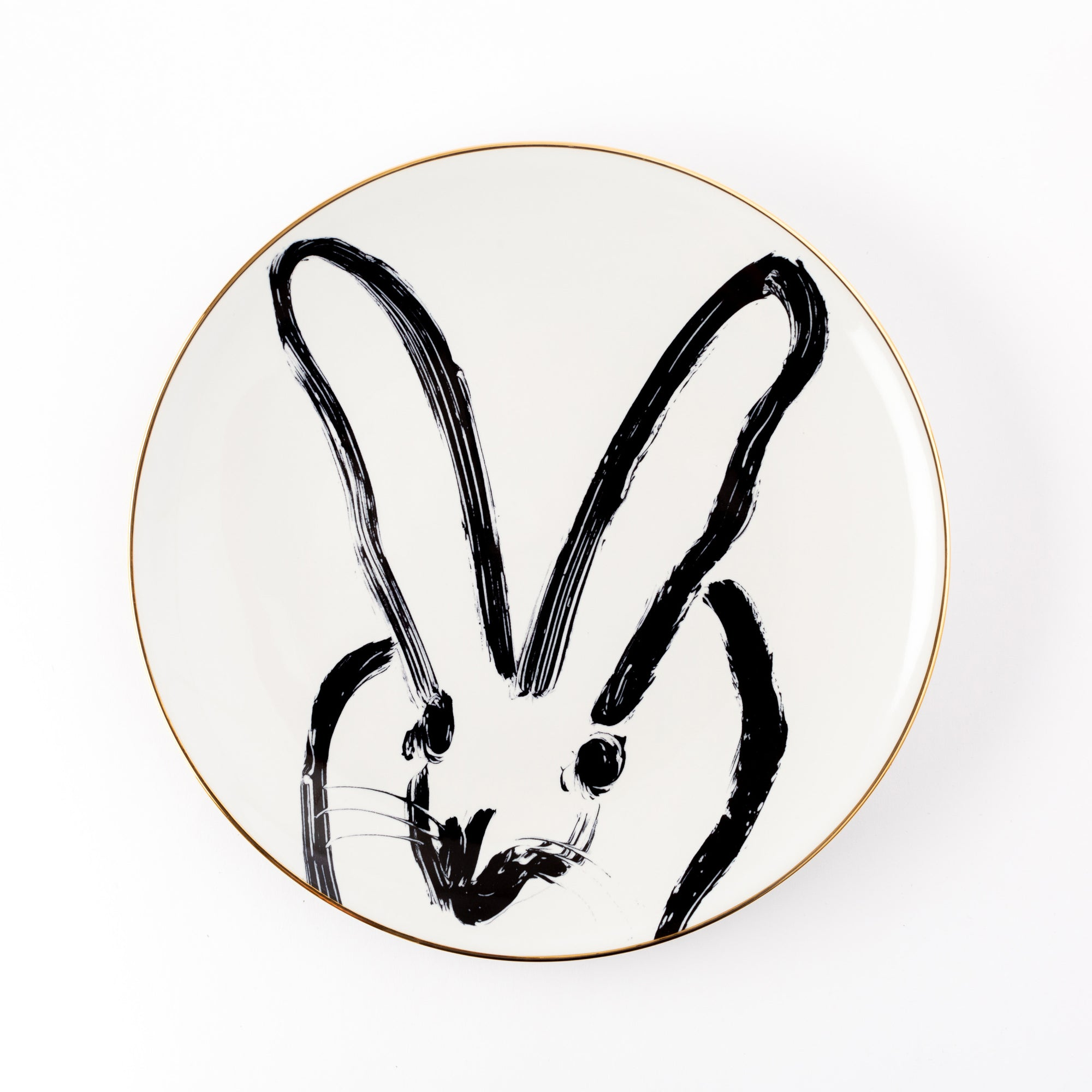 Rabbit Run Dinner Plate - White, Set of 2