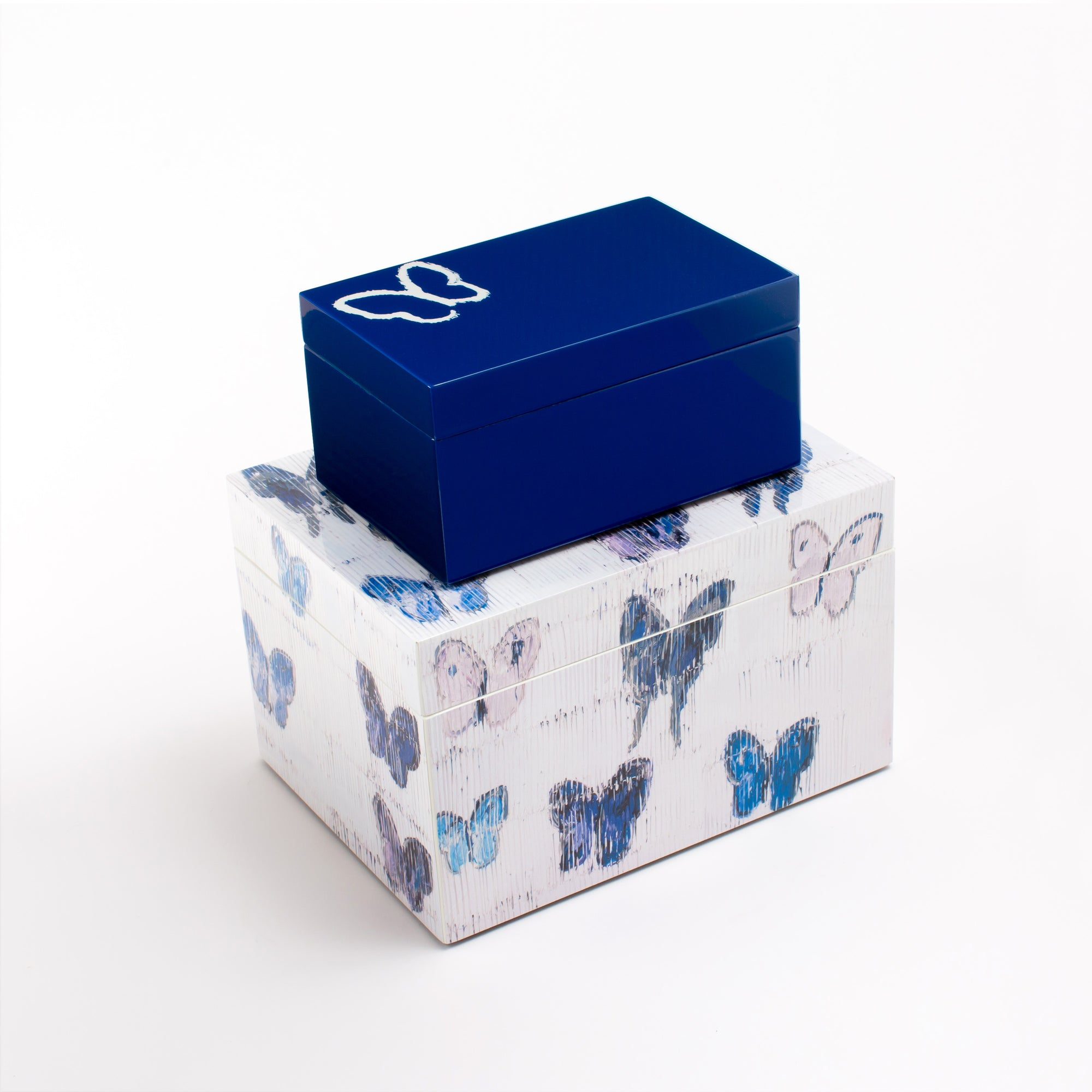 Lacquered Blue Butterfly Box Set