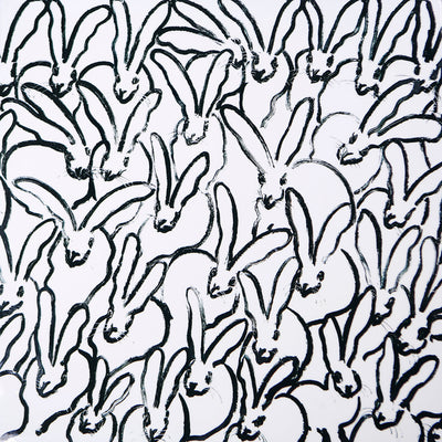 Rabbit Run Lacquered Placemat in White and Black