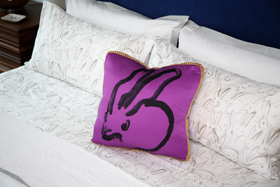 Bunny Purple Pillow