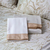 Designer Duvet and Shams in Gold Metallic