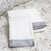 Luxury Duvet and Shams in Metallic Silver