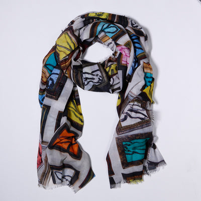 Bunny Wall Cotton Scarf