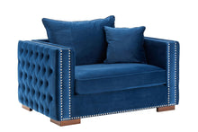 Load image into Gallery viewer, Moscow Snuggle Chair - Blue Velvet