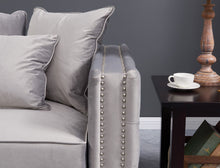 Load image into Gallery viewer, Moscow Snuggle Chair - Grey Velvet