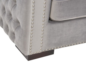 Moscow 2 Seater Sofa - Grey Velvet