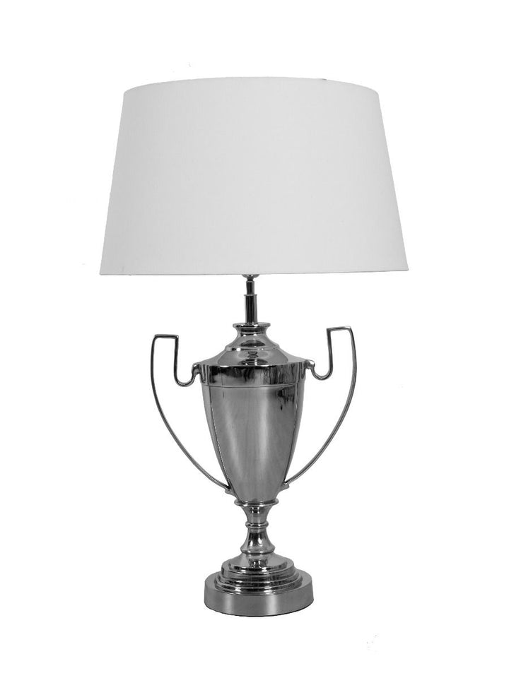 Trophy Lamp- Silver/Cream