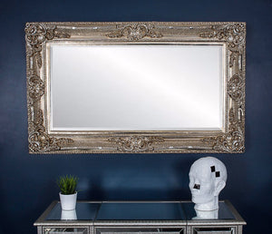Romo Mirror 4ftx3ft - Antique Silver