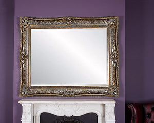 Toulouse Mirror 5ftx4ft - Antique Silver