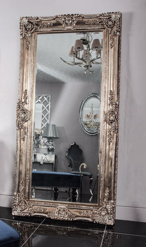 May Mirror - Antique Silver