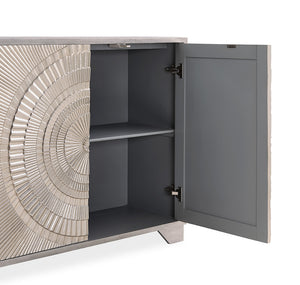 Frenso 2 Door Chest - Silver