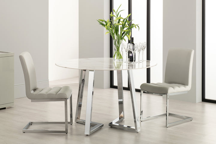 Storm 5 Piece Dining Table Set - Grey