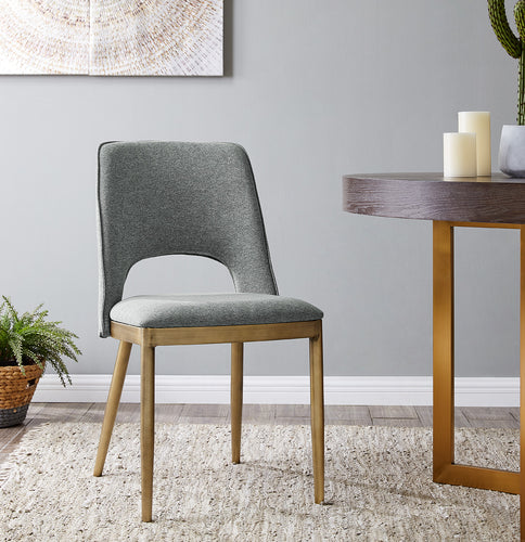 Morgan Dining Chair - Brass / Grey (Set of 2)