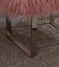 Load image into Gallery viewer, Faux Sheepskin Bench - Pink