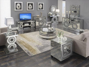 Crystal Sideboard & Rectangular Mirror