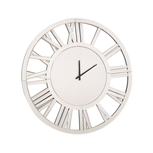 Large Mirrored Wall Clock