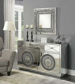 Crystal Sideboard & Square Mirror