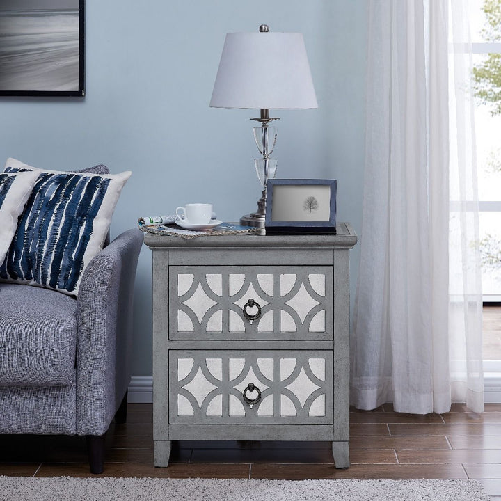 Russell 2 Drawer End Table