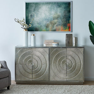 Frenso 4 Door Sideboard- Silver